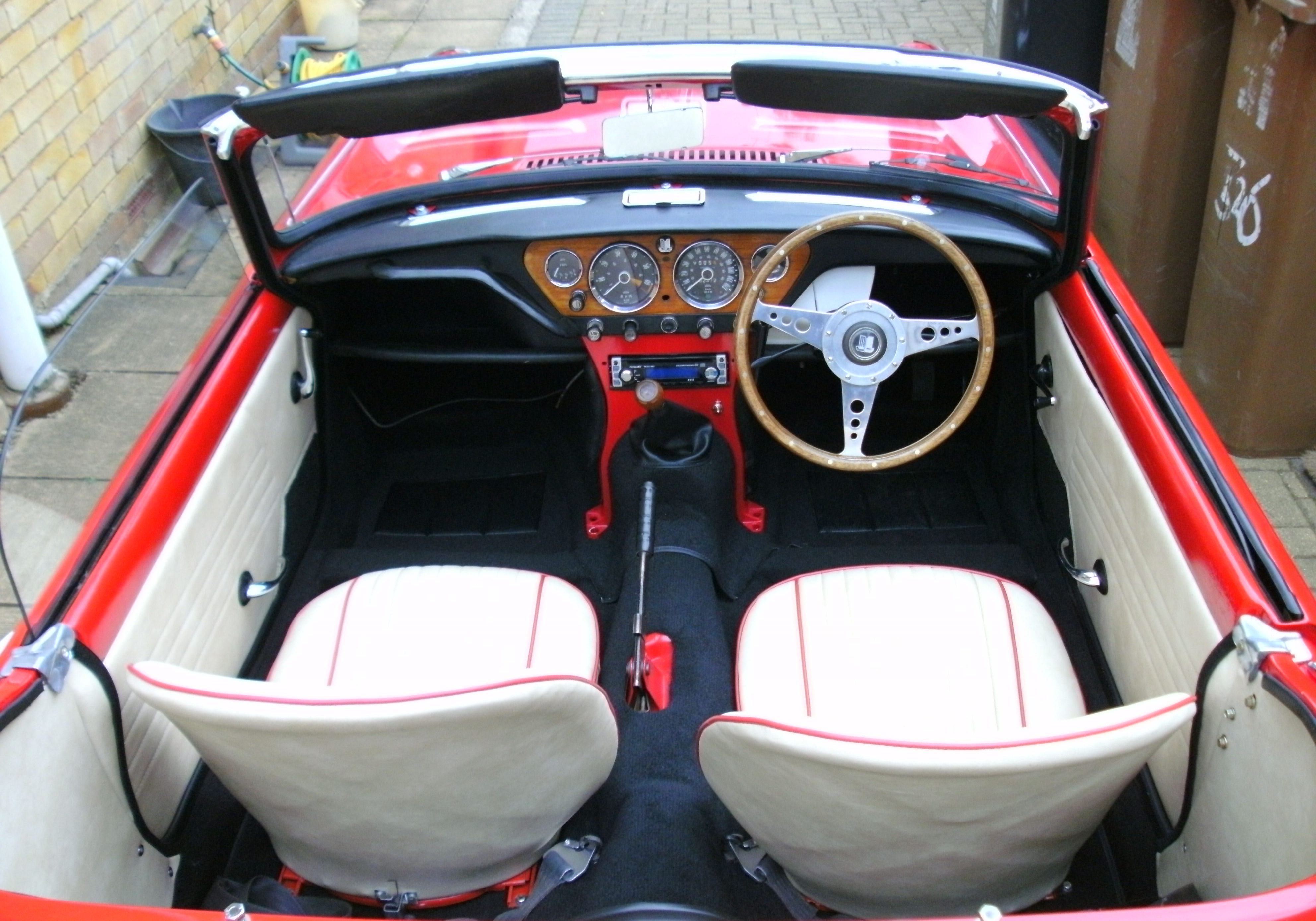 leather seats in a convertible